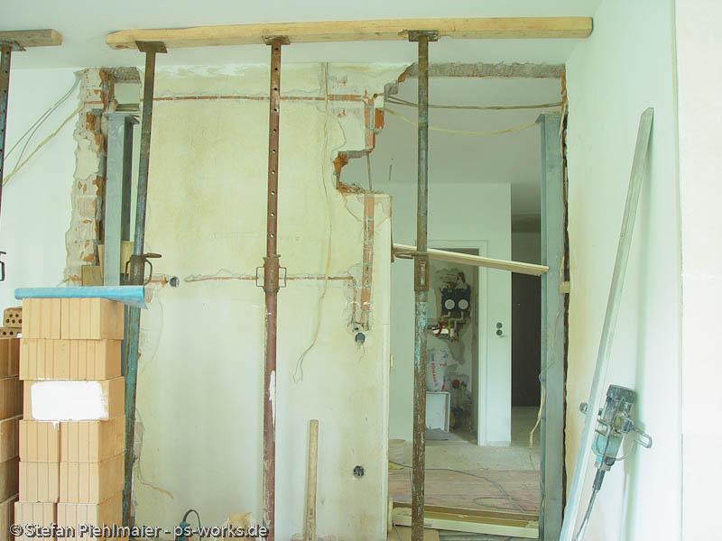 ps works startseite bildergalerie eingriff in die statik entfernen einer tragenden wand. Black Bedroom Furniture Sets. Home Design Ideas