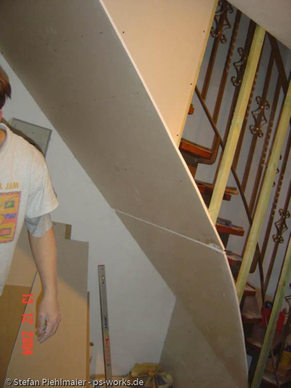 ps works startseite bildergalerie trockenbau verkleidung einer offenen treppe. Black Bedroom Furniture Sets. Home Design Ideas